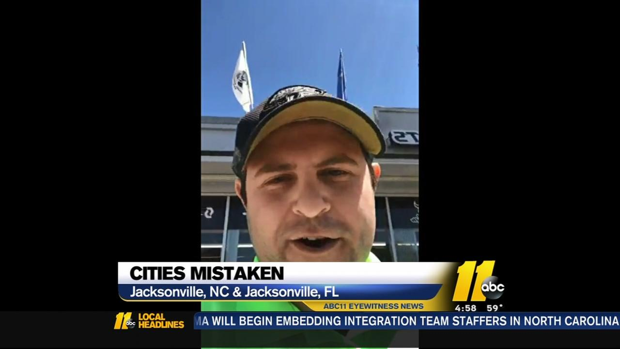 Wrong state! Viral video of Florida man now affecting business in Jacksonville, North Carolina