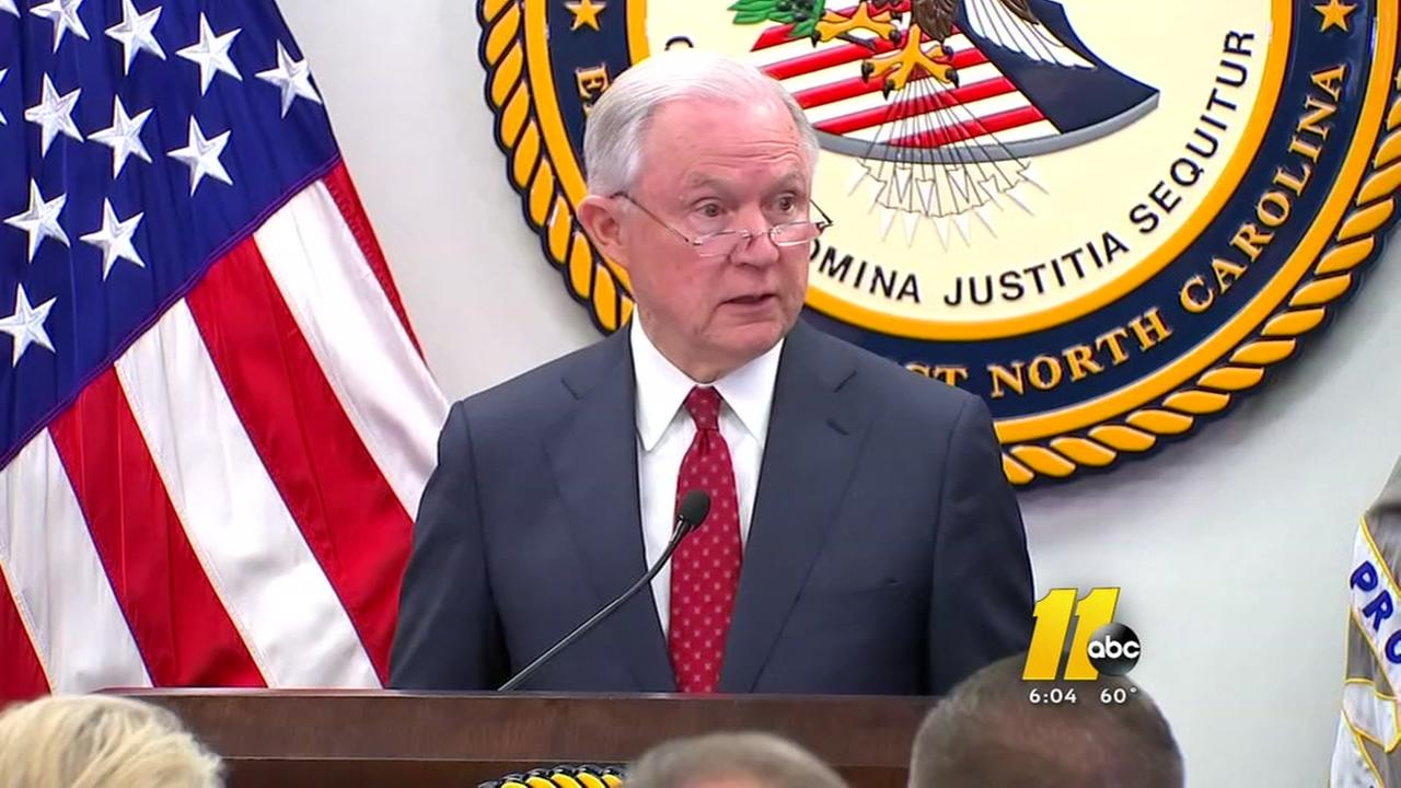 AG Jeff Sessions talks opioids in NC