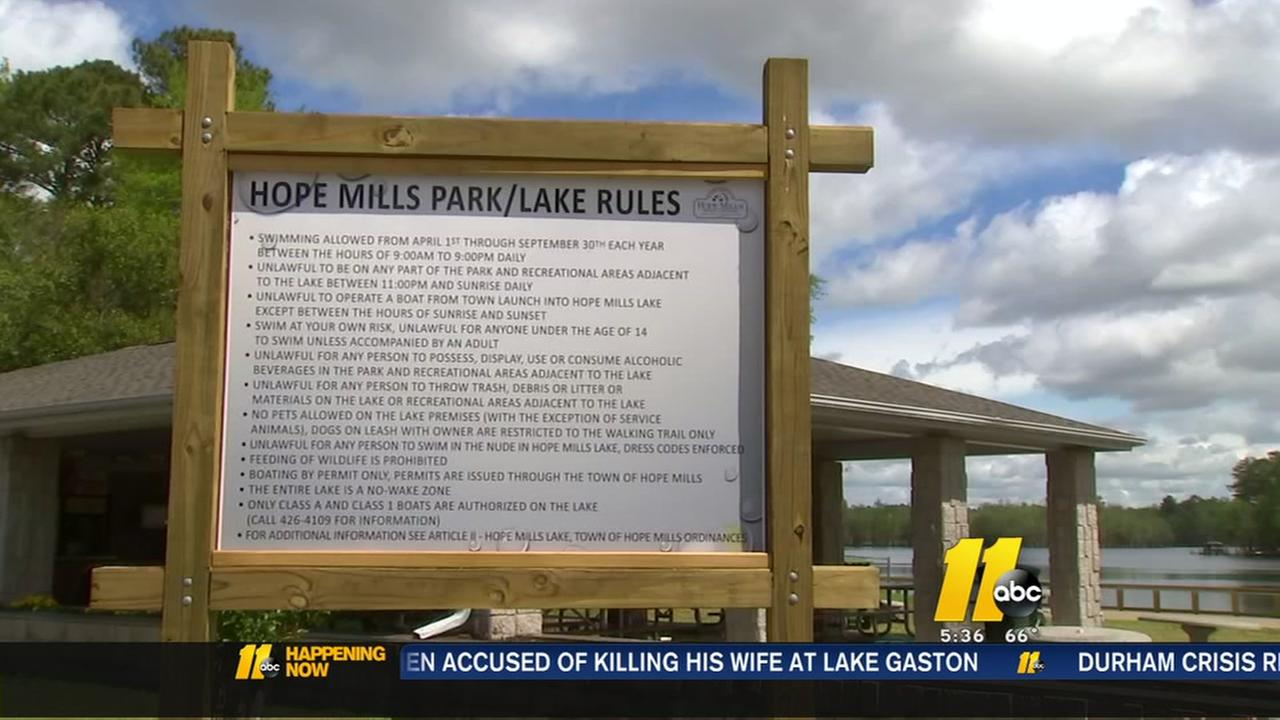 No dogs allowed at Hope Mills Park