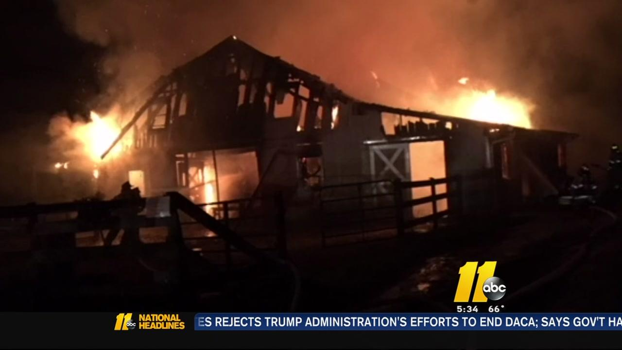 Two goats, 13 chickens dead in fire at Carrboro barn that was also operating as daycare