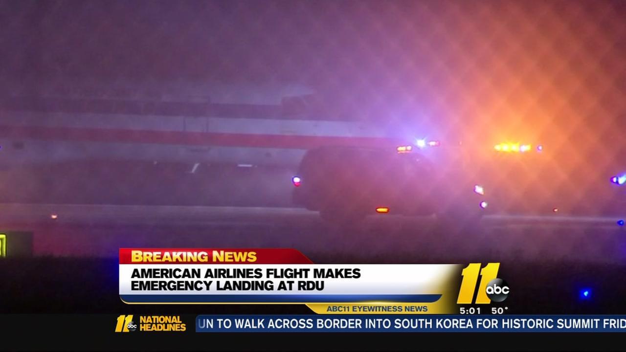 American Airlines flight makes emergency landing at RDU