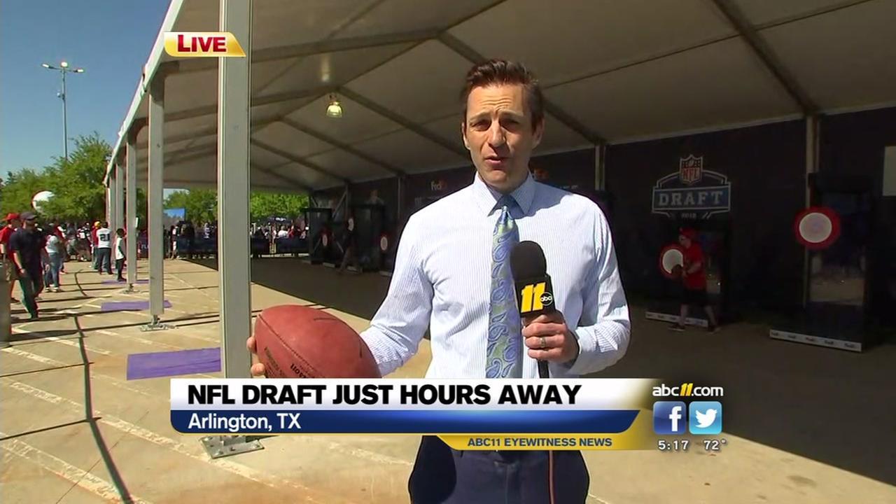 Joe Mazur is live in Texas ahead of the NFL Draft