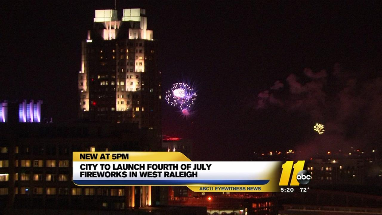 Raleigh Fourth of July fireworks are moving