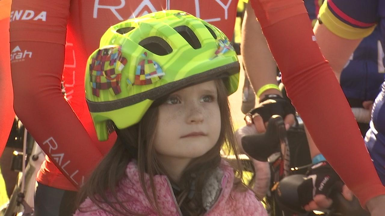 Childrens Foundation gifts recovering girl a new bike