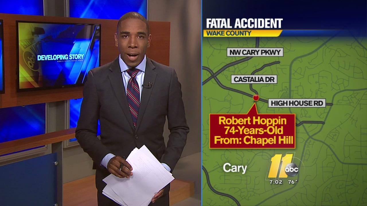Driver fatally struck by car in Cary identified as Chapel Hill man