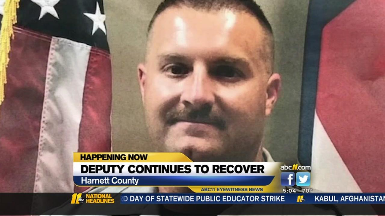Harnett County deputy continues to recover after shooting