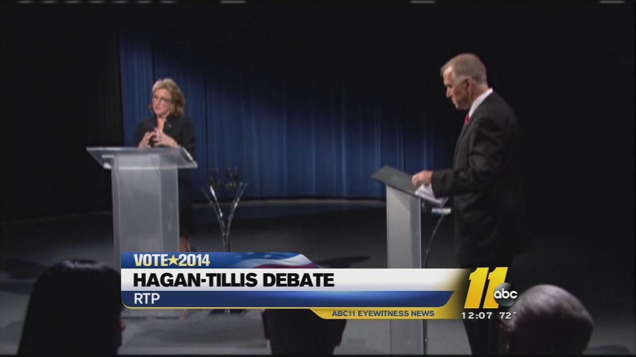 Senator Kay Hagan and Thom Tillis debate
