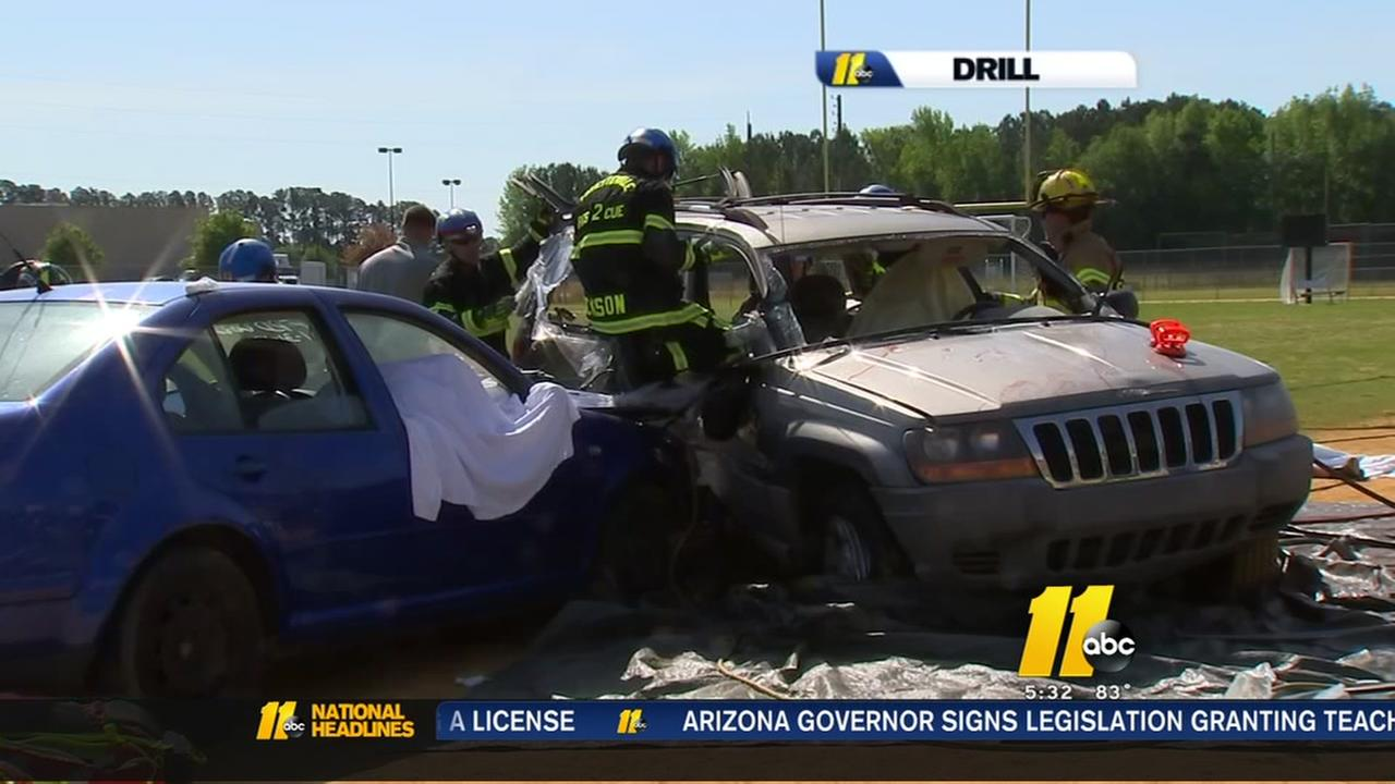 Drunken driving drill a sobering reminder for students