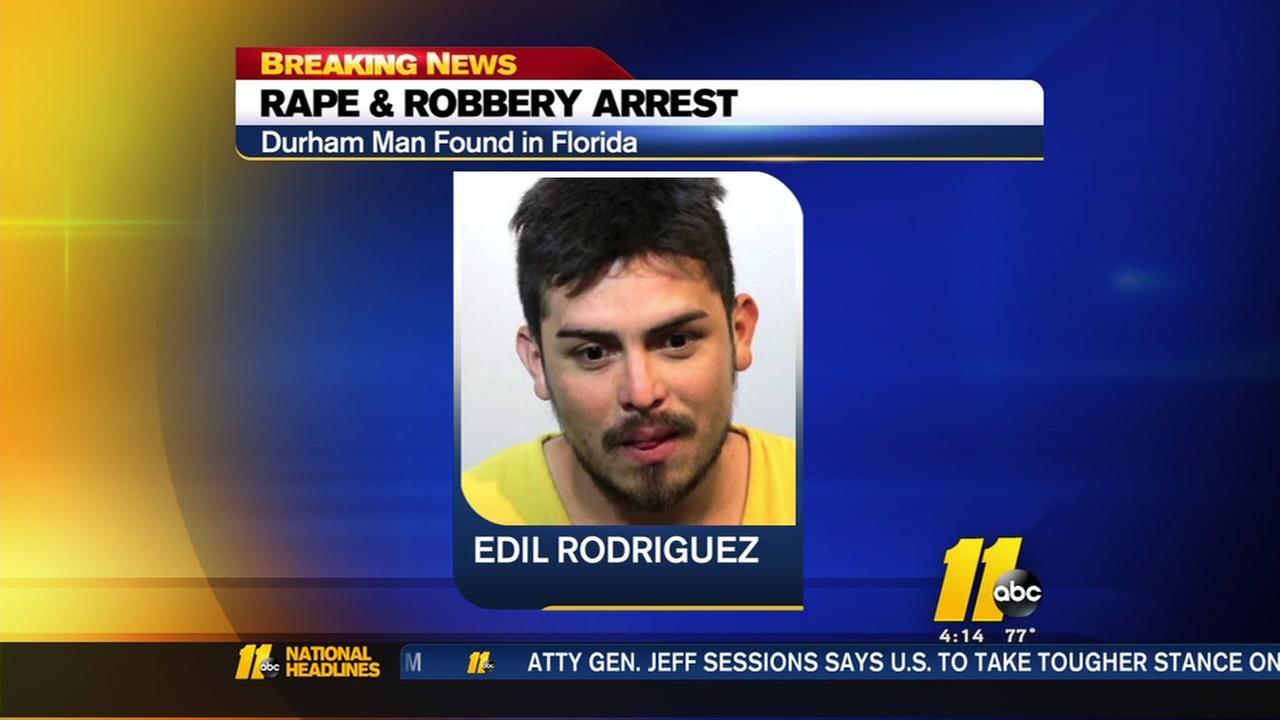 Durham rape suspect found in Florida