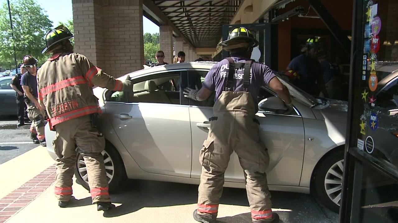 Woman injured after car rams into Durham restaurant