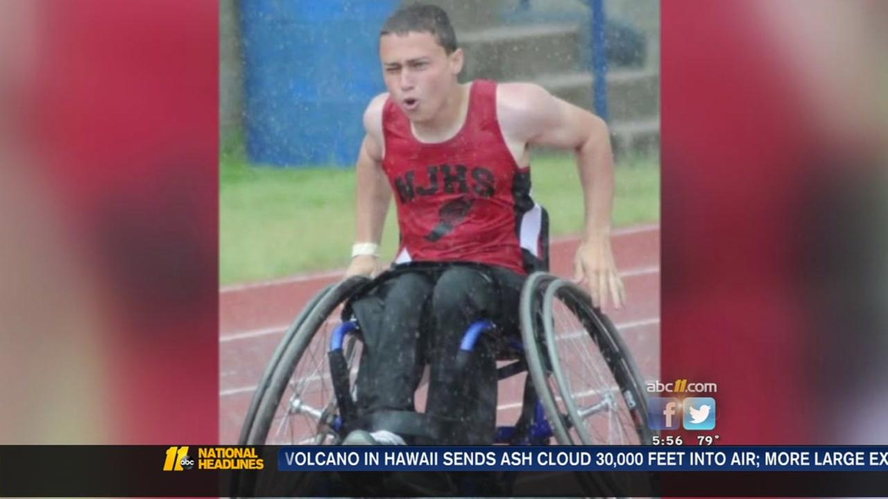 Wheelchair athlete from Johnston County aims for Paralympics