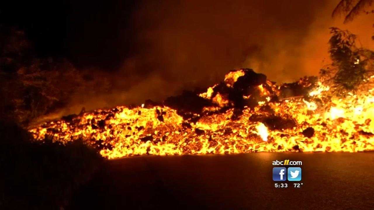 Emergency workers help with Hawaii volcano