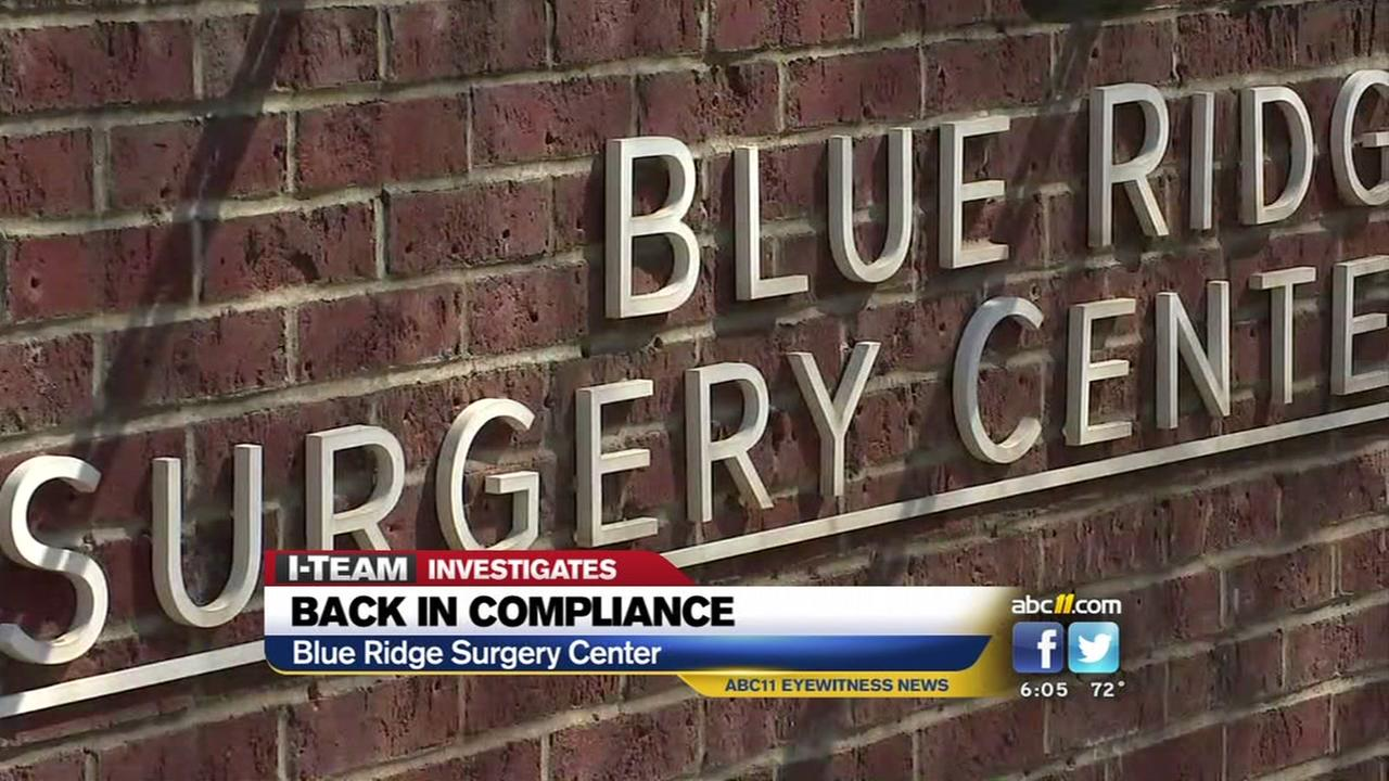 Surgical center back in compliance