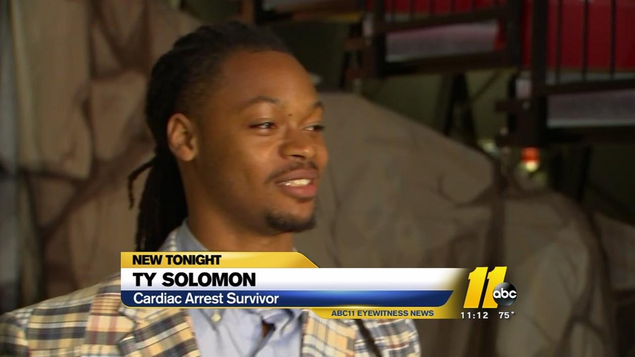 Basketball player who survived cardiac arrest returns to Raleigh