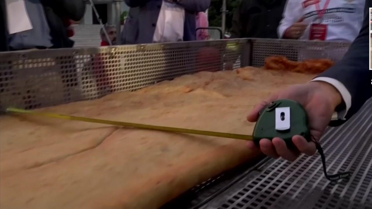 Naples pizza makers claim the world record for largest fried pizza