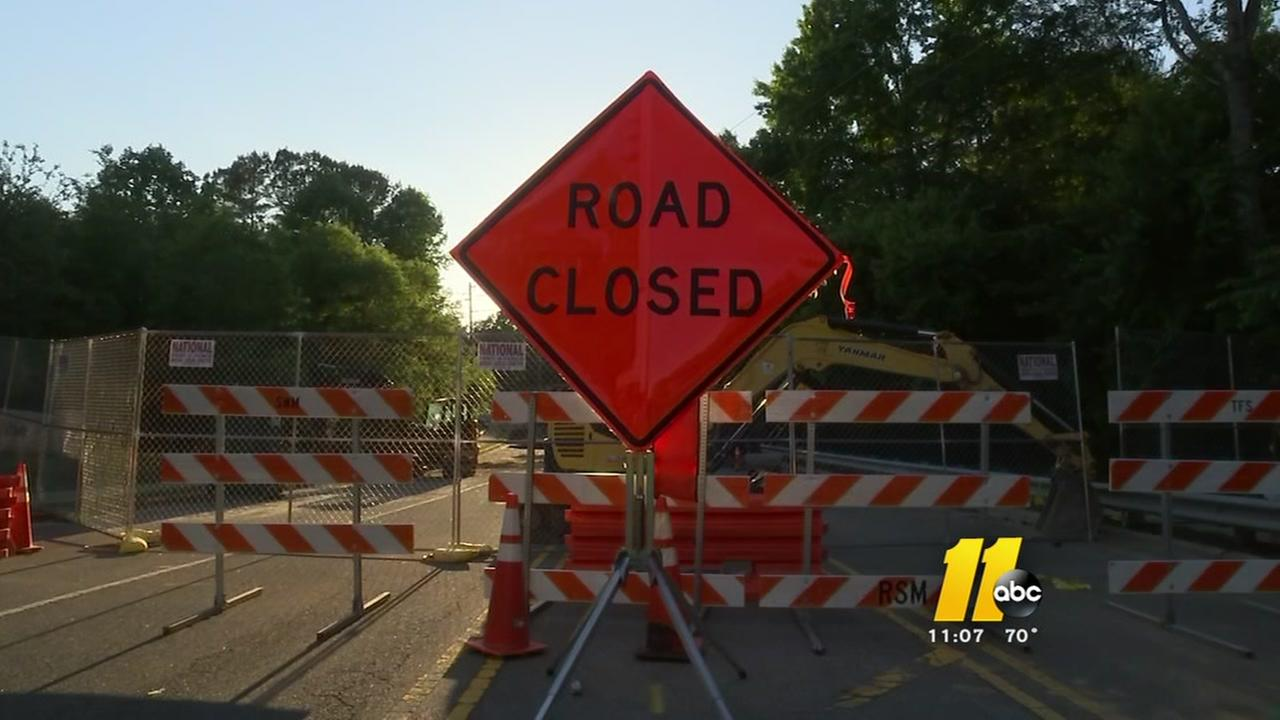 Raleigh commutes complicated by months-long Newton Road sinkhole closure