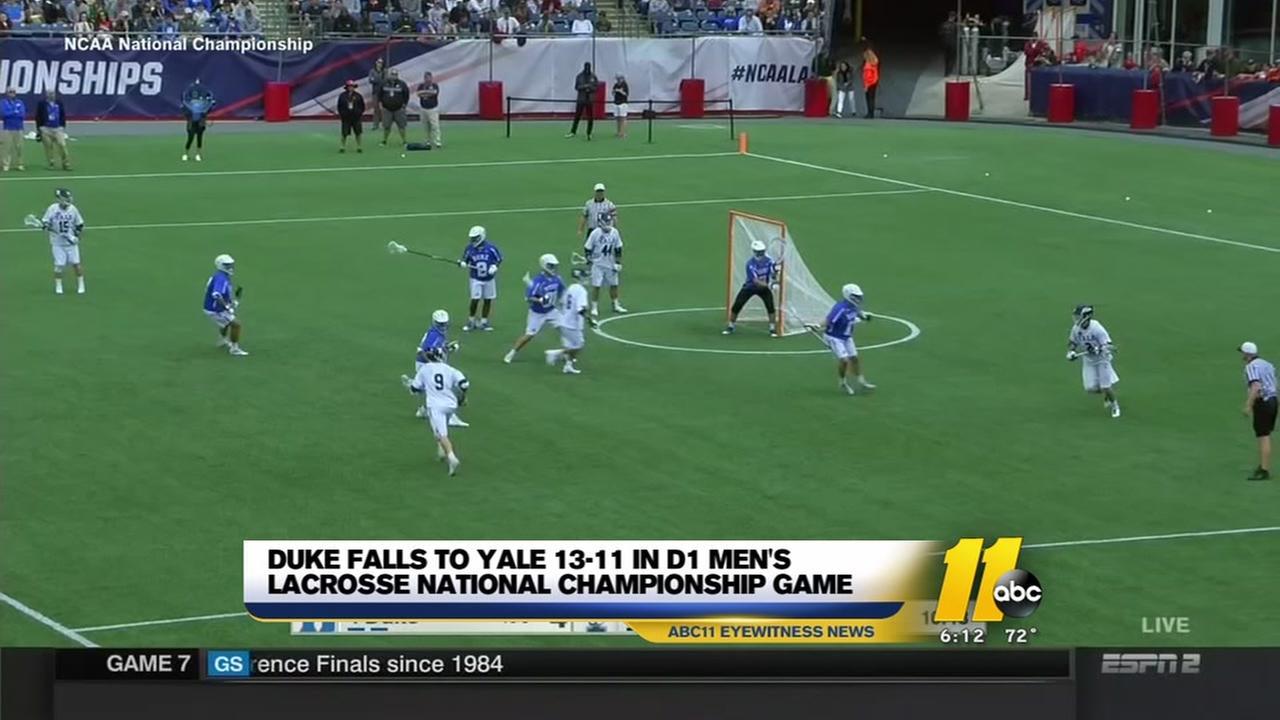 Duke falls in mens lacrosse final to Yale