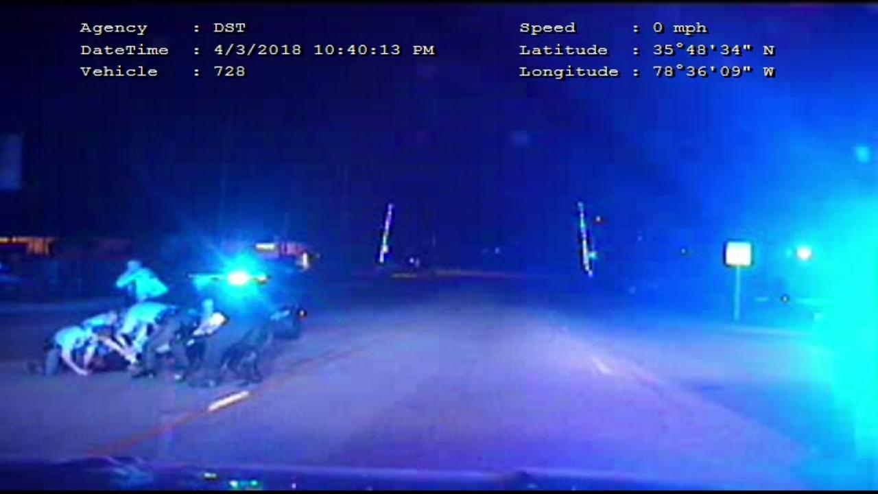 Raleigh Police dashcam from April 5th