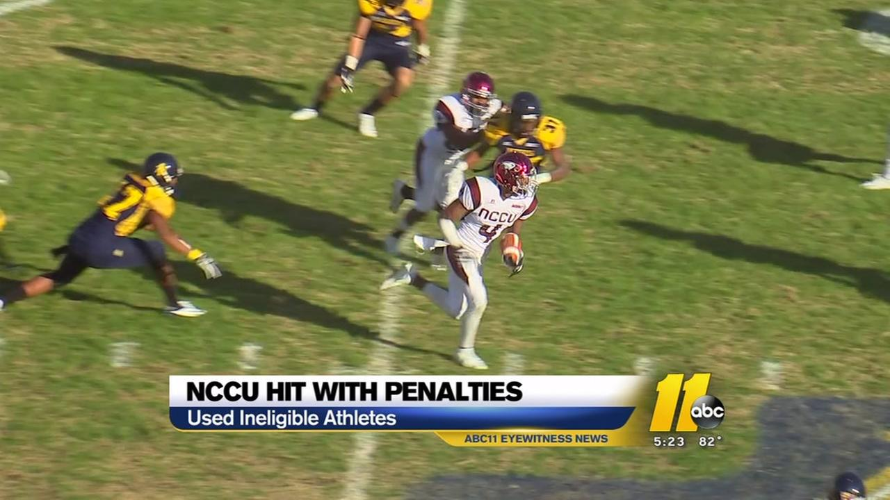 NCCU hit with penalties from the NCAA involving 22 athletes