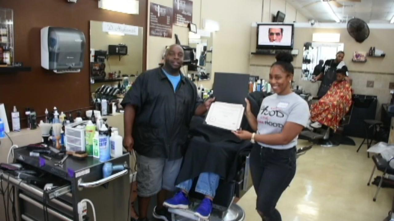 Award at Barbershop Buzz