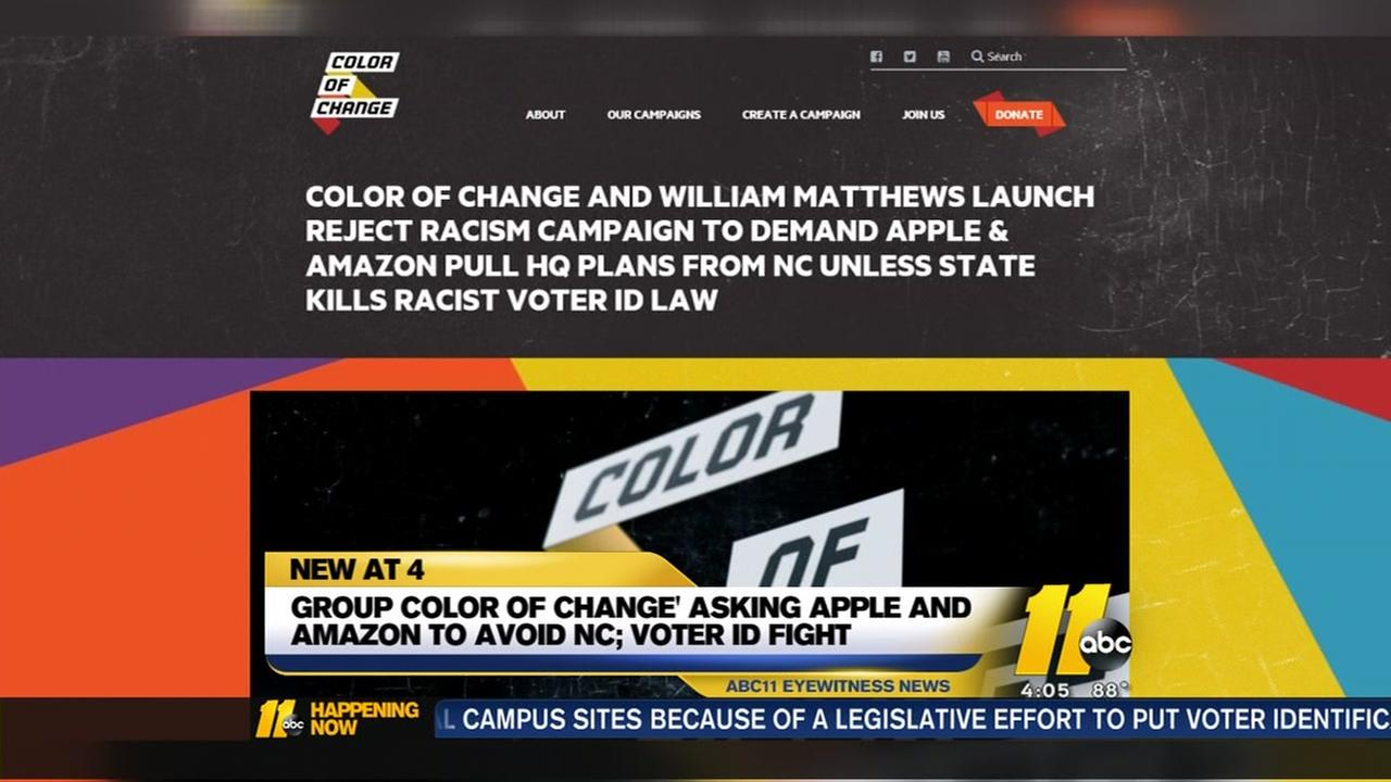Advocacy group urges Apple and Amazon to avoid NC