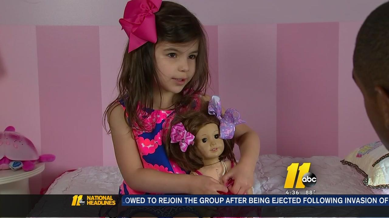 Doctors at Duke perform surgery on 5-year-olds doll to give it same scar