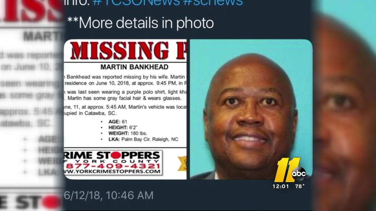 Authorities still looking for missing man Martin Bankhead