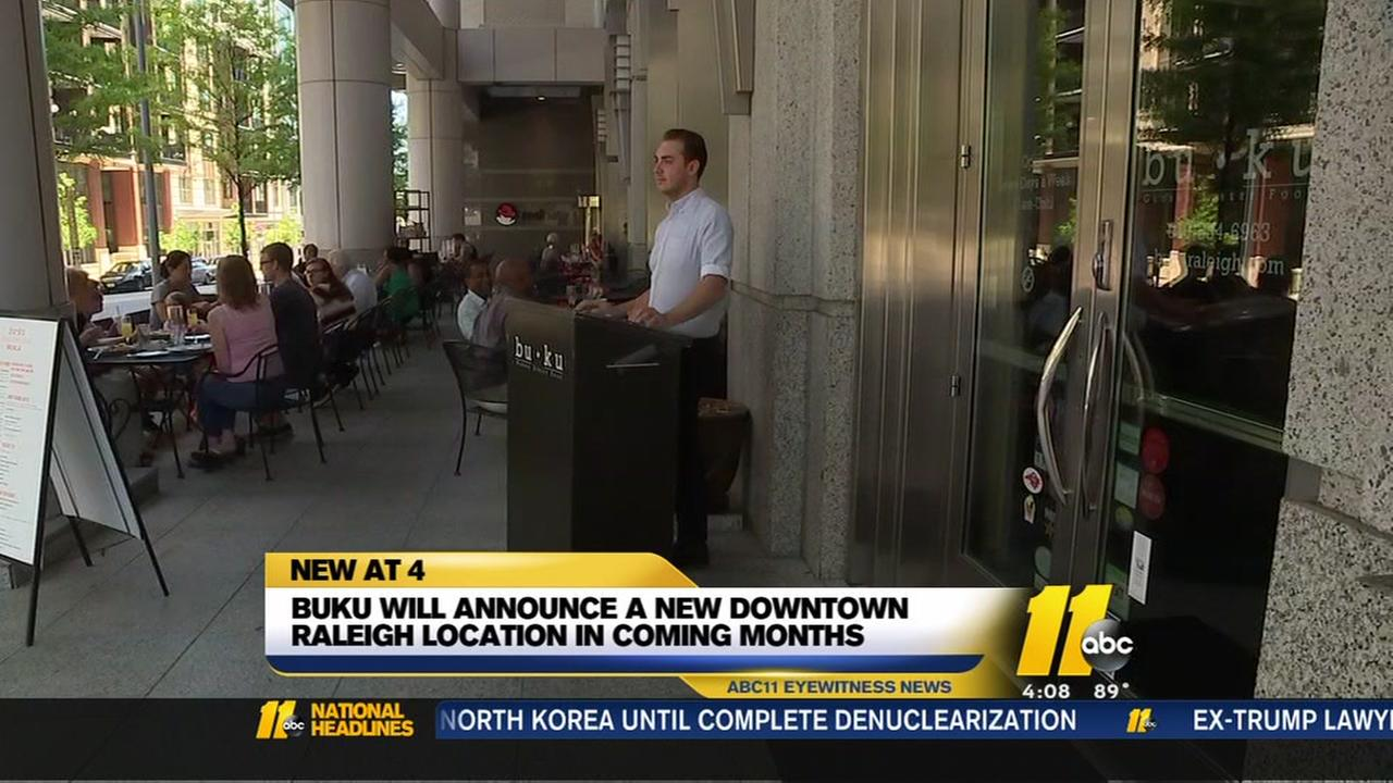 Downtown Raleigh restaurant BUKU will close at the end of 2018