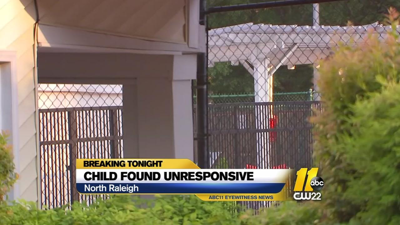 Raleigh child found unresponsive in pool in stable condition, police say