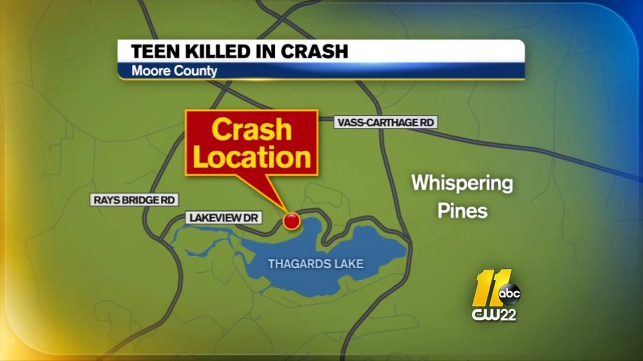 Moore County teen killed in crash