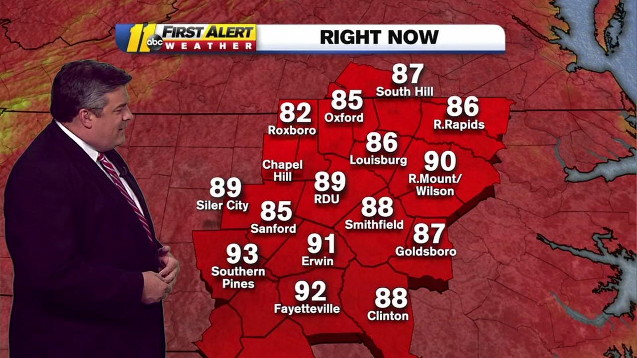 Temperatures to reach high 90s in the Triangle