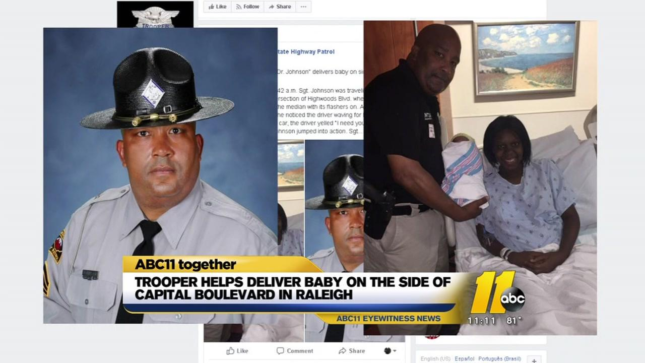 Trooper helps deliver baby on Raleigh roadside