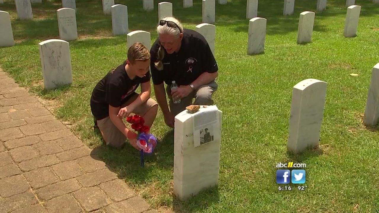 California boy visits Raleigh in nationwide effort to honor veterans