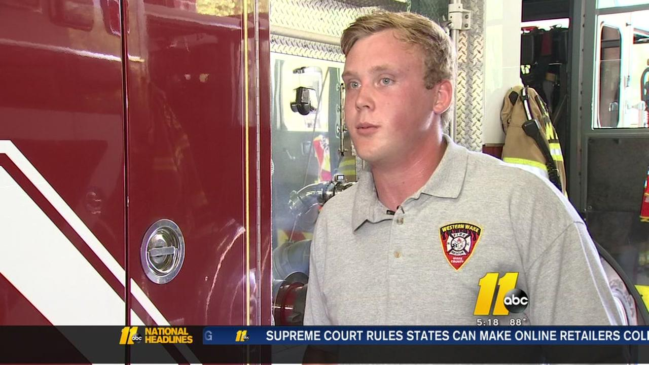 NC State football player doubles as firefighter