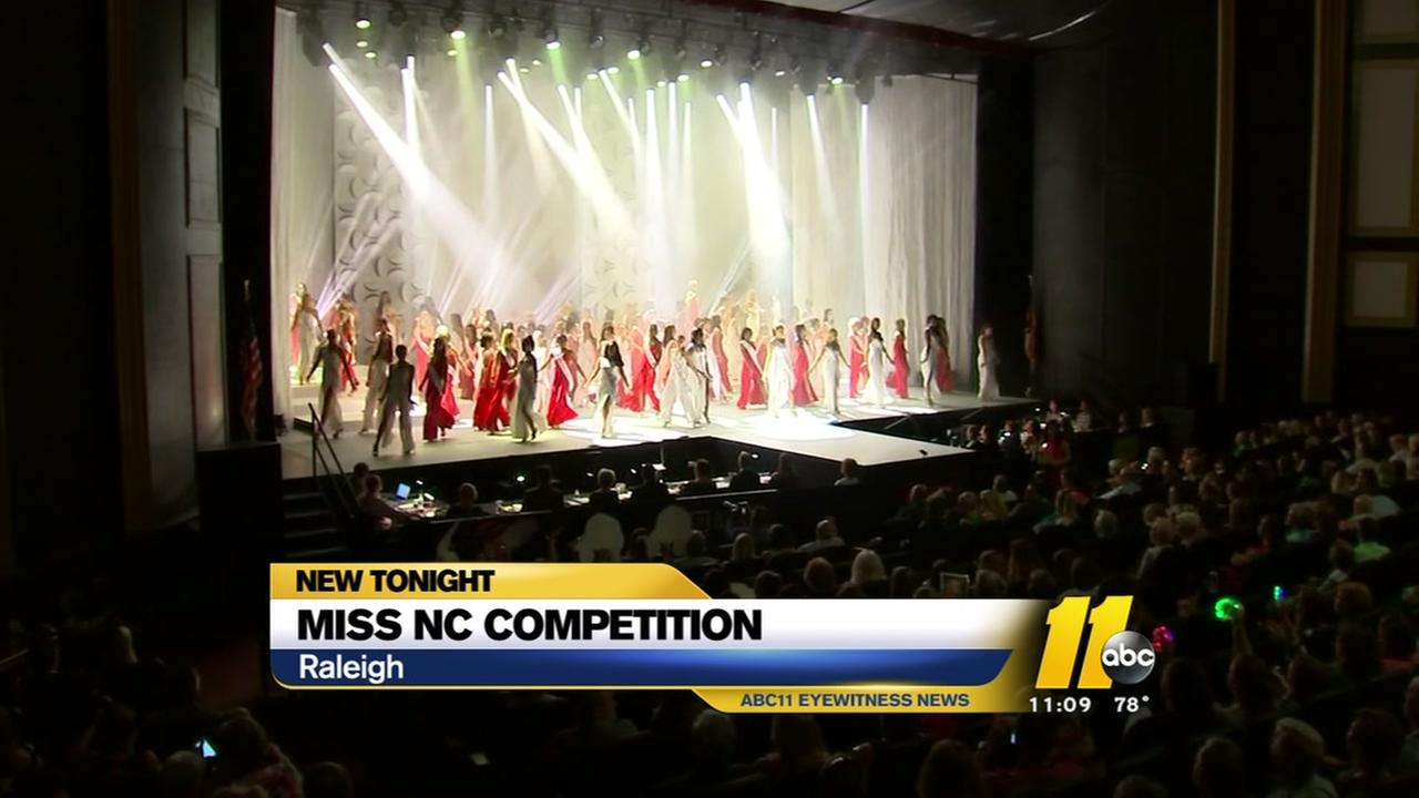 Last prelim competition for Miss NC Scholarship Pageant