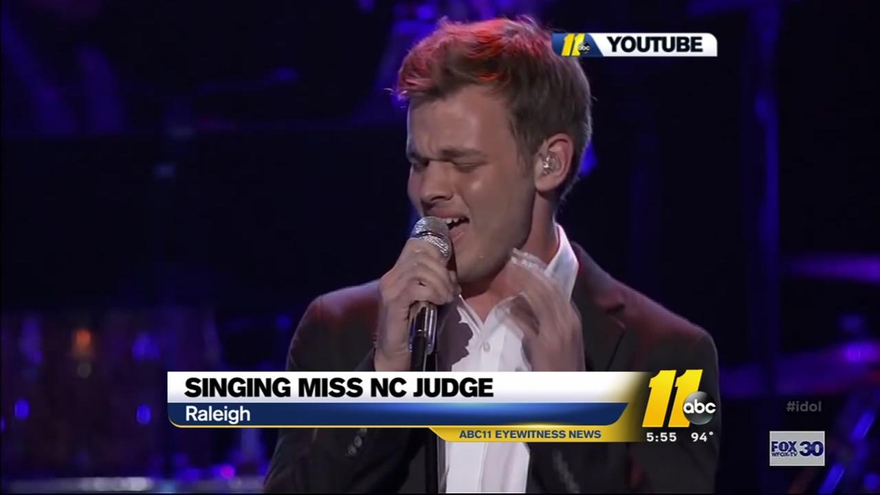 American Idol runner-up Clark Beckham judges Miss NC