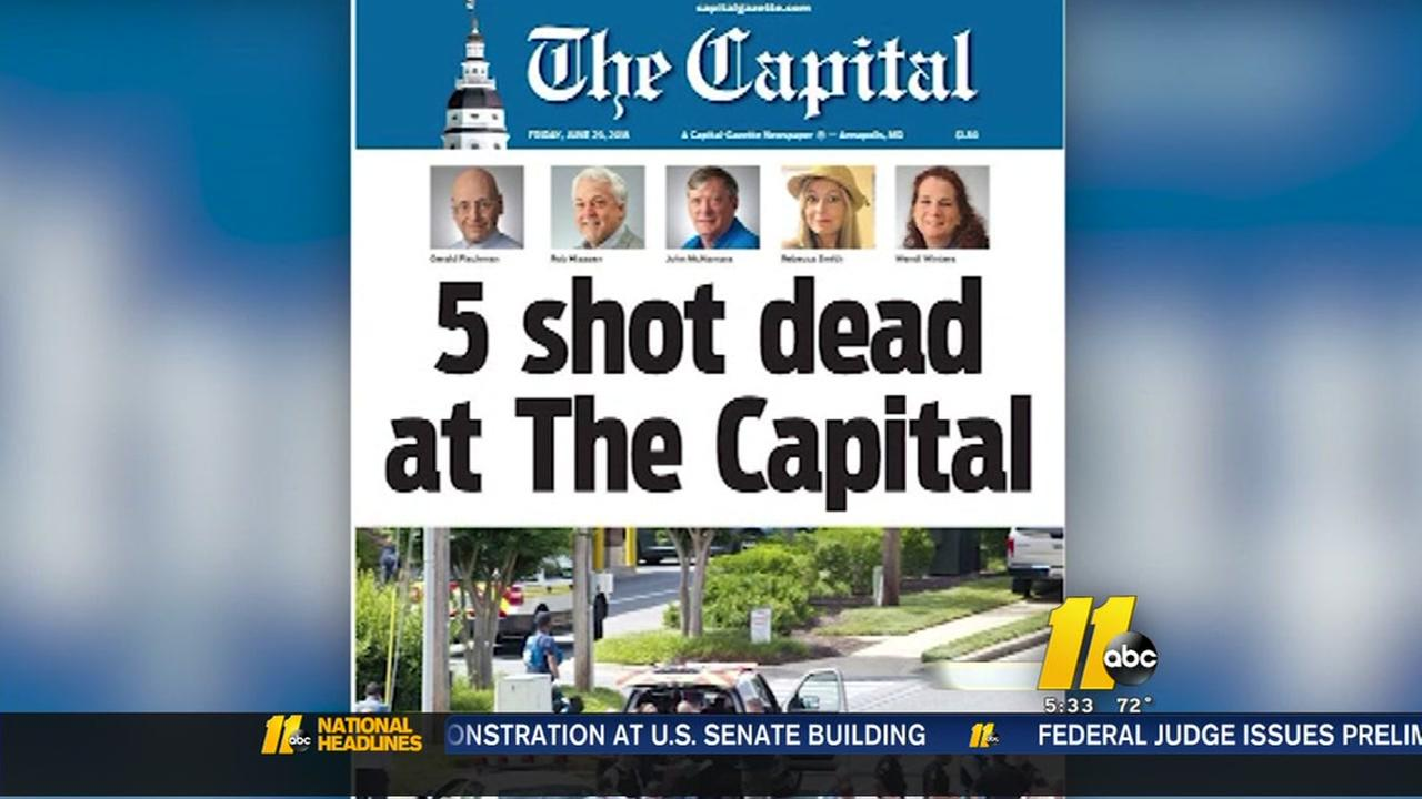 Marylands Capital Gazette stands tall after shooting tragedy