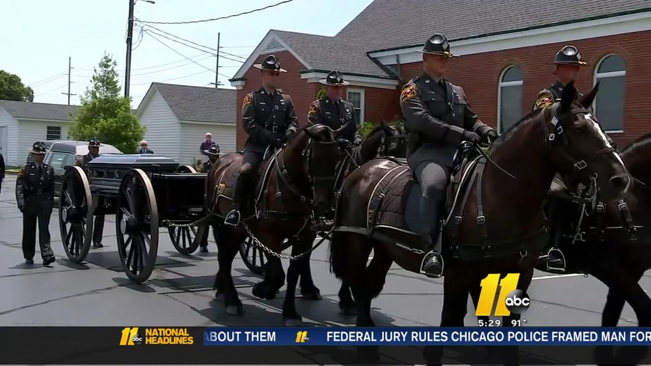Funeral held for Rocky Mount Police Officer Christopher Driver