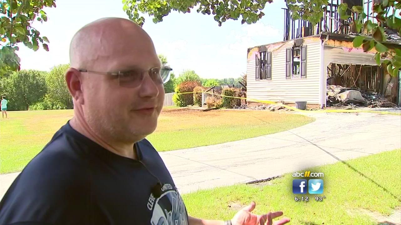 Cop loses everything in house fire