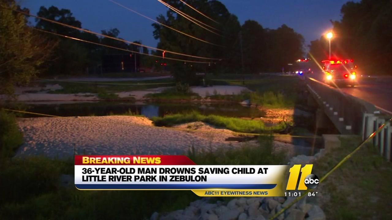Man drowns while rescuing child from Little River in Zebulon