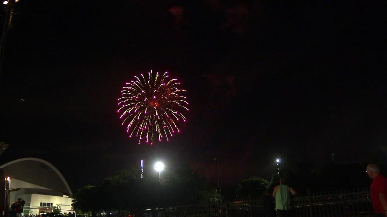 Raleigh celebrates the Fourth with fireworks display