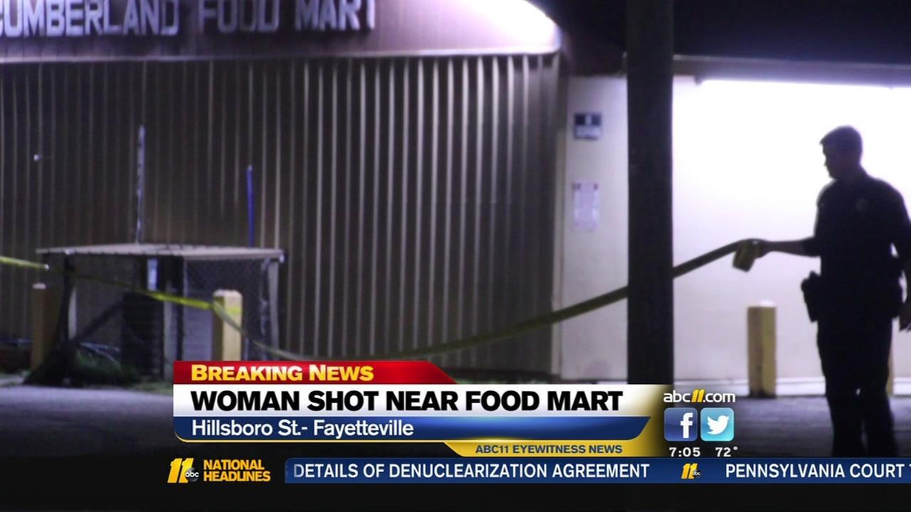 Woman shot near Food Mart in Fayetteville