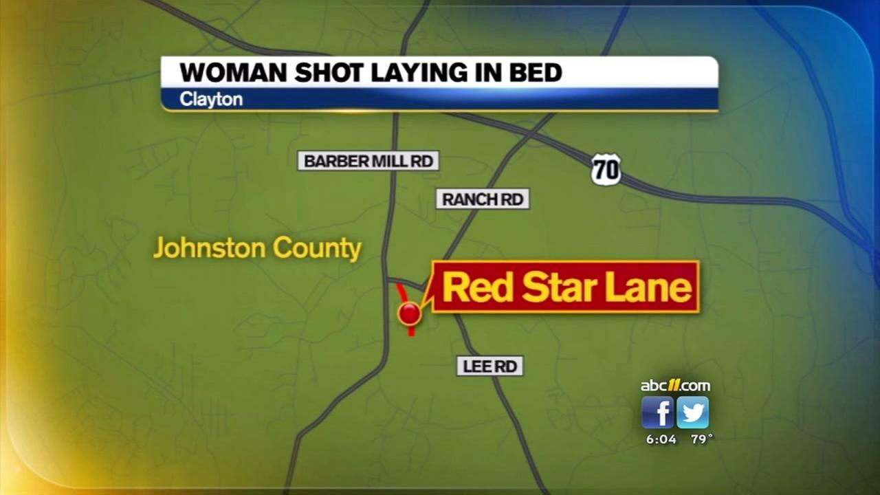 Clayton woman shot at home while lying in bed
