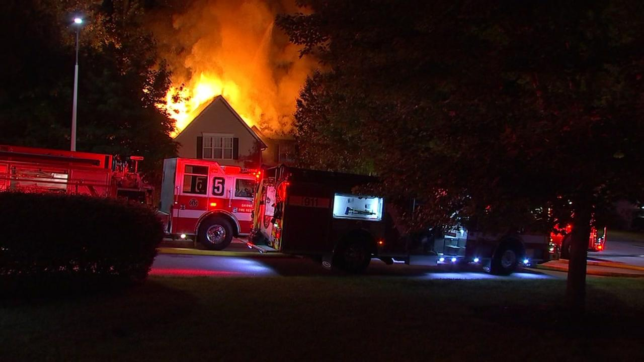 Fire breaks out at Garner home
