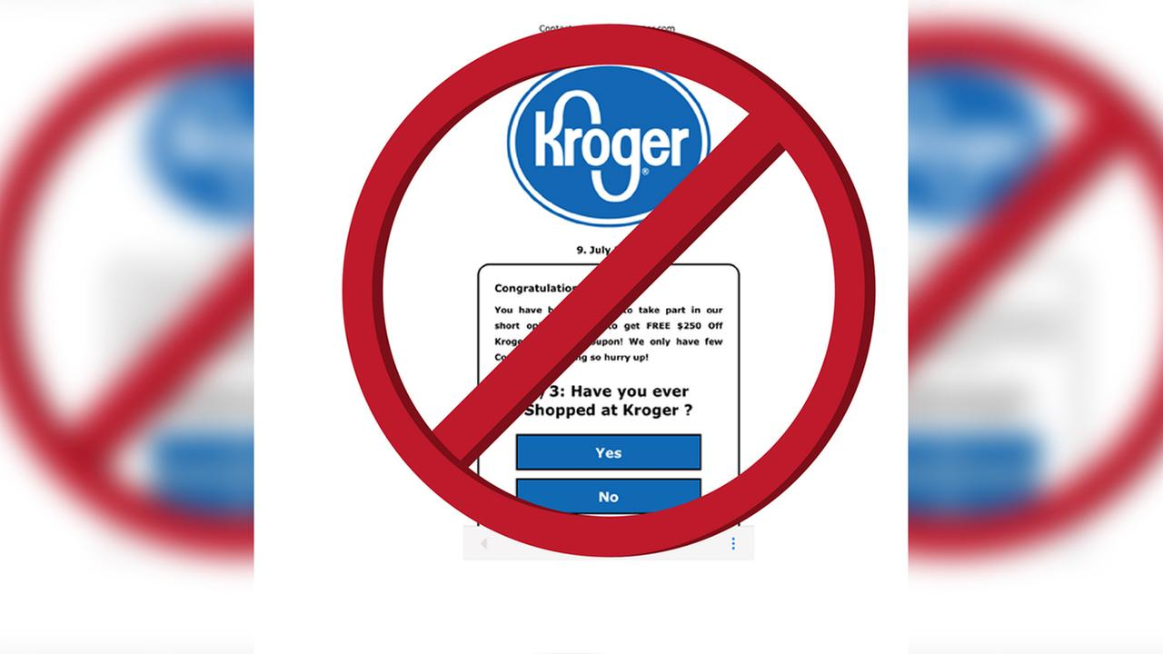 A fake $250 Kroger coupon is circulating around social media.