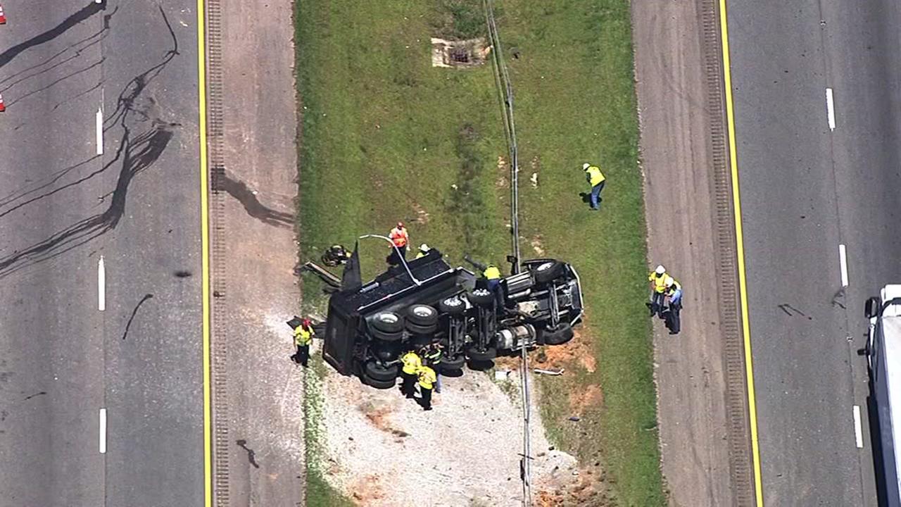 I-540 overturned truck