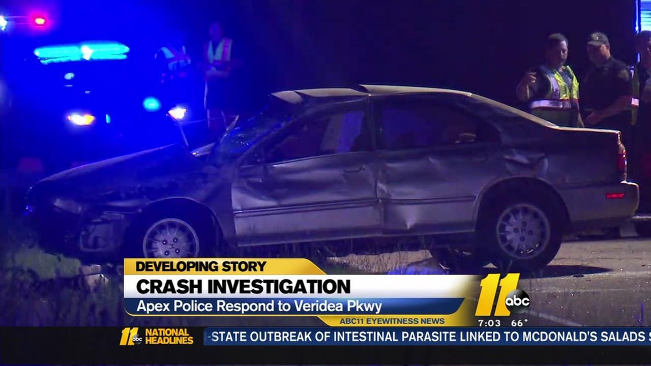 Apex police respond to crash