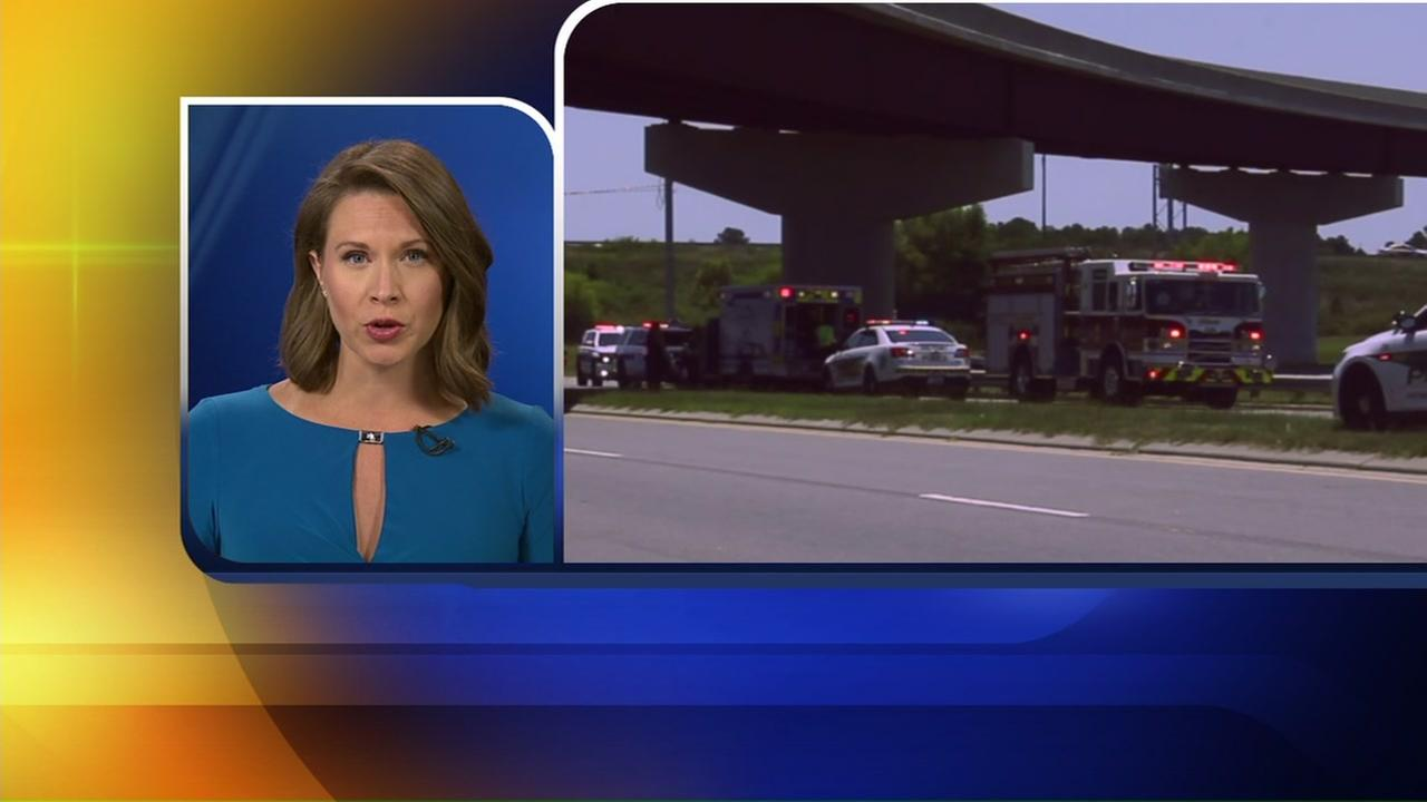 Woman injured in motorcycle crash at I-295 and Murchison Road in Cumberland Co.