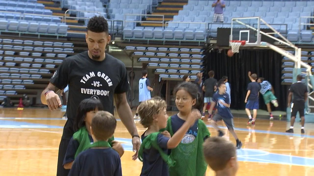 NBA player Danny Green returns to Chapel Hill for youth basketball camp