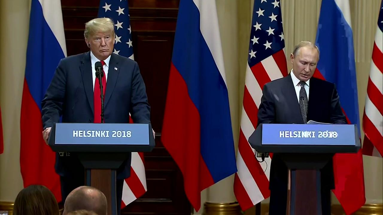 President Trump declares very good start to Putin summit